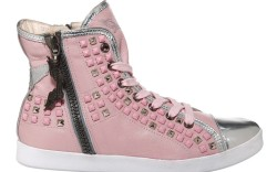 Studded high-top with zipper detail by Robins Jeans
