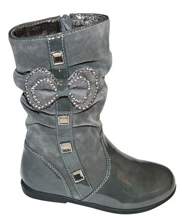 Pampili&#8217s slouch boot with patent accents
