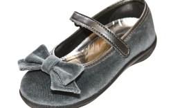 Naturino&#8217s velvet Mary Jane shoe with bow