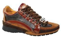 Multicolored speed-lace shoe by Dsquared2