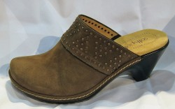 Nailhead-trimmed clog by Softspots