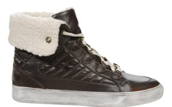 Pajar&#8217s high-top sneaker with distressed outsole