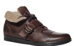 Ankle shoe with buckle strap by Kenneth Cole