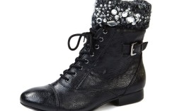 Libby Edelman&#8217s lace-up boot with embellished cuff