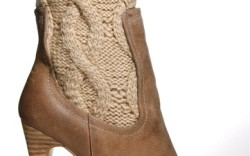 Charles by Charles David&#8217s stacked-heel boot with cableknit shaft