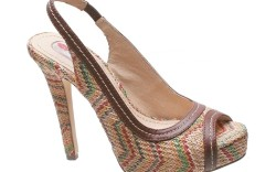 Multicolored chevron-knit slingback by Two Lips