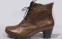 Platform lace-up boot by Wolky