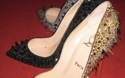 Christian Louboutin&#8217s spiked pumps with crystals