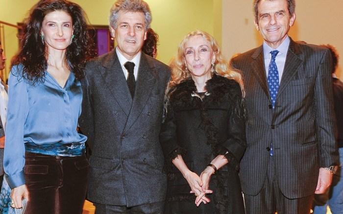 From left Ilaria Ferragamo Alain Elkann Italian Vogue&#8217s Franca Sozzani and Ferrucio Ferragamo