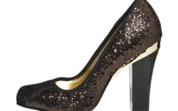 Round-toe pump with gold trim by Elaine Turner