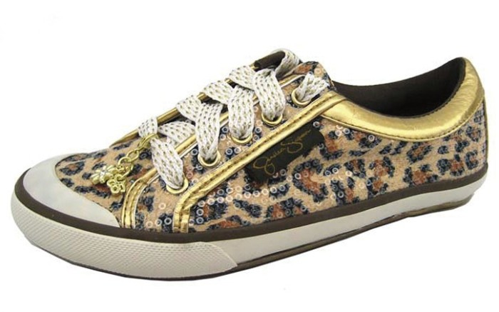 Sequin-embellished sneaker by Jessica Simpson