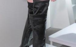 Giuliano Fujiwara&#8217s thigh-high boots with cut-away wedges