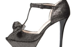T-strap sandal with studded bow by Claudia Ciuti