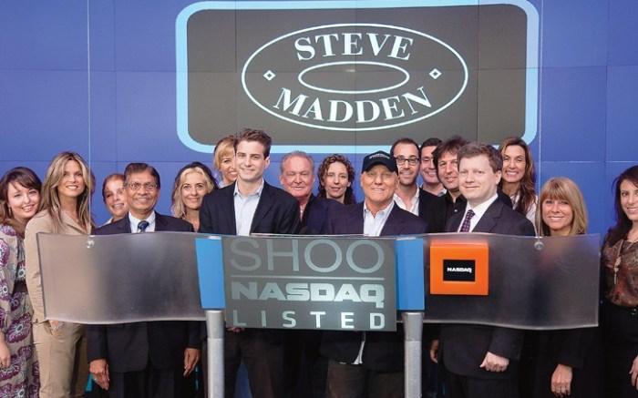 Steven Madden Ltd ringing the closing bell at Nasdaq earlier this month