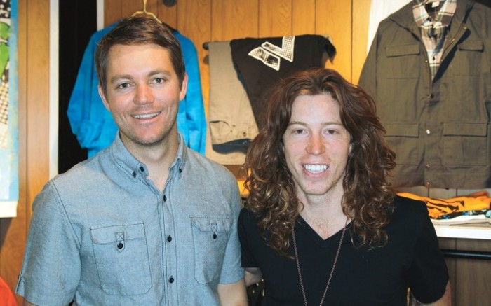 Brothers Jesse left and Shaun White