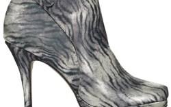 Mojo Moxy&#8217s ankle bootie in satin zebra print