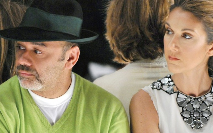 Christian Louboutin and Celine Dion