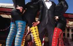 At a May 17 circus-themed event during the Cannes Film Festival to promote&#8220Le Carrosse Noir&#8221 Louboutin&#8217s seven-part Web series the designer poses with &#8220Loubi&#8217s Angels&#8221