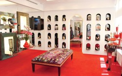 The lower level of Christian Louboutins Los Angeles boutique