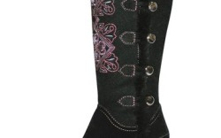 Faux fur-trimmed boot with contrasting stitching by Jambu