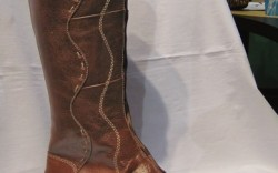 Dansko&#8217s wedge boot with front lacing detail