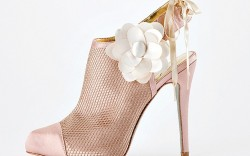 A bootie from Charles Davids wedding shoe line