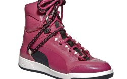 High-top with oversized bungees laces by Alexander McQueen Puma