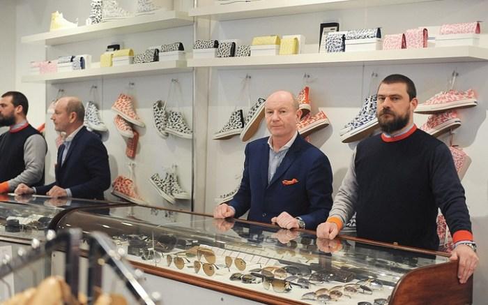 Eddie Prendergast and Steve Davies in their London store Present