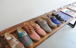 A row of shoes at London mens store Present