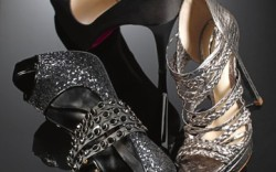 CHristian Louboutins satin peep-toe pump Alexandre Birmans braided-strap platform sandal Ruthie Davis glitter peep-toe pump with studded straps