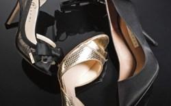 Nina&#8217s satin sandal with floral T-strap Pura Lopez&#8217s satin pump Coye Nokes&#8217 metallic peep-toe sandal Ivanka Trump&#8217s lace d&#8217Orsay pump with satin bow