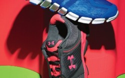 ADIDAS&#8217 slim-profile sneaker with ClimaCool cooling technology UNDER ARMOUR&#8217s mesh style with ArmourBound cushioning EVA in midsole
