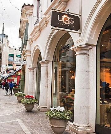 Ugg Australia boutique at The Grove outdoor mall in LA