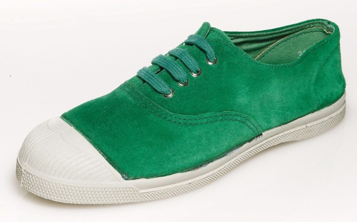 Grass-green laceup from BENSIMON