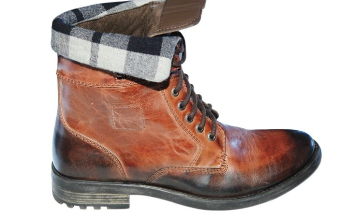 Boot with buffalo plaid from BRONX