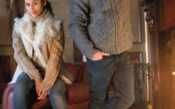 Her Shearling-trimmed bootie by CUSHE Sweater by Ugg Australia vest by DKNY jeans by Hudson Him Wool-lined boot with Vibram outsole by CHACO Sweater from Ugg Australia jeans by Polo Ralph Lauren