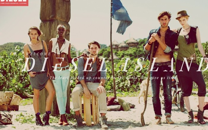 An ad from Diesel&#8217s spring campaign