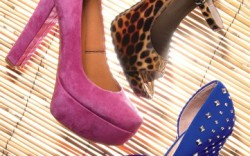 Clockwise from top VIA SPIGA&#8217s printed patent Mary Jane style BCBGENERATION&#8217s d&#8217Orsay pump with  studded heel ROUGH JUSTICE&#8217s suede platform pump