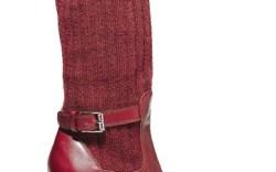 JIL SANDER&#8217s high-heel boot with knit shaft