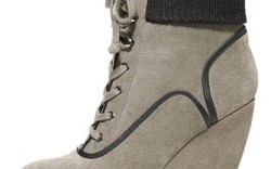 KELSI DAGGER&#8217s tailored lace-up bootie with knit cuff