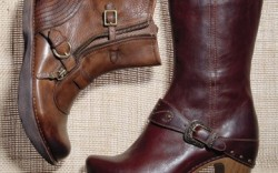 From left EARTH&#8217s double-buckle  style with zipper  DANSKO&#8217s clog- inspired boot