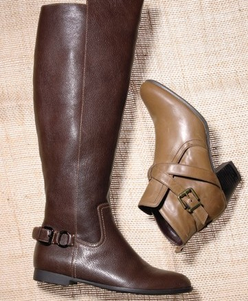 From left SOFFT&#8217s flat riding boot  THE FLEXX&#8217s  pant boot with crisscross straps