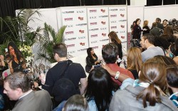 Hundreds of fans rushed the FN Platform Cafe&#769 in hopes of snapping a photo with Nicole &#8220Snooki&#8221 Polizzi