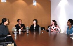 Roundtable participants at FN&#8217s New York office discuss their shoe shopping secrets