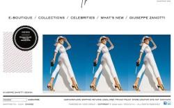 Giuseppe Zanotti newly revamped website