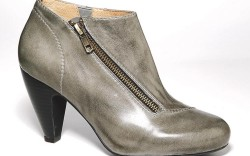 Muted green ankle bootie by MIZ MOOZ