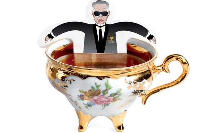 International design label Donkey Products created an assortment of hanging teabags in the likeness of Karl Lagerfeld Donatella Versace Jean Paul Gaultier and Naomi Campbell