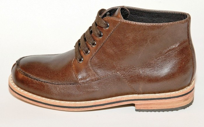 COLE HAAN&#8217s short boot with stacked heel and sole
