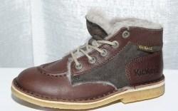 Fleece-lined shoe on crepe bottom from KICKERS