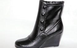 TARYN ROSE&#8217s black wedge bootie